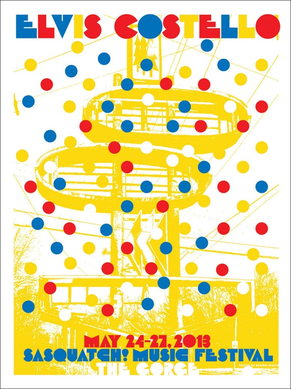 Elvis Costello poster by Shawn Wolfe