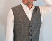 Mens 6 button tweed vest made to order
