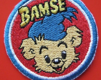 Sale~ Iron-on Embroidered Patch Bear Bamse 2.25 inch