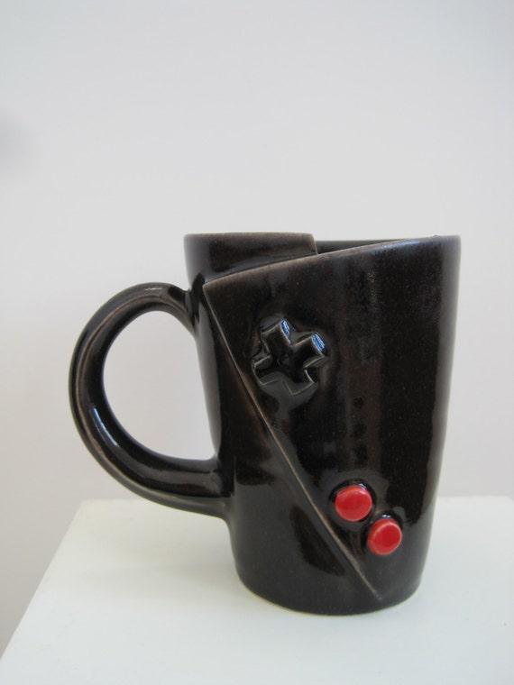 Original Nintendo Controller Coffee Mug for the Vintage gamer.  Oldschool Love