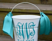 Personalized 2 quart size bucket-Great for weddings