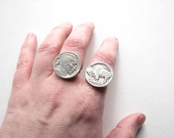 Indian head nickel ring - vintage coin ring