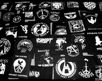SALE // 5 punk/crust/political PATCHES (40 different designs/bands available)