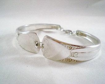 Spoon Bracelet, FREE ENGRAVING,  Silver Spoon Jewelry, Bridesmaid Bracelet, Silverware Jewelry, Silver Wedding Bracelet Vintage EMBASSY 1939