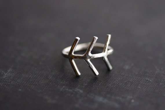 Arrow End Ring - Sterling Silver - Made to Order