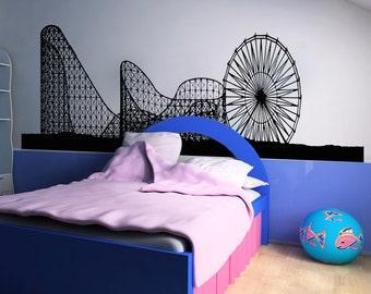 Vinyl Wall Decal Sticker Ferris Wheel and Roller  Coaster OSAA1051s