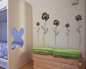 Vinyl Wall Decal Sticker Roses 1103m
