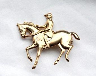 Vintage 1950's Equestrian Brooch // Black Beauty