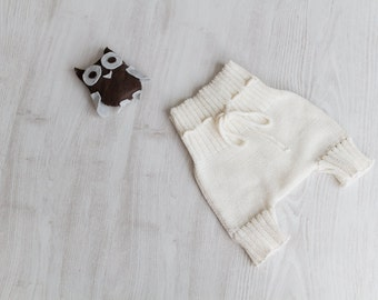 Baby clothes knit Diaper Cover Baptism gown Baby shower gift Kids eco friendly