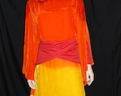 Star Wars, Padme Flame Gown, Episode I, Custom Made to Order