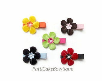 Baby Girls Hair Clips/Baby Bows/Flower Barrettes/1st Birthday Gift for Girls/Hair Accessories/Baby Hair Clips/Toddler No Slip Hair Clips