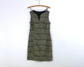 SALE Vintage Cheetah Print Dress / Animal Print Dress / Wiggle Dress / Leopard Print M L