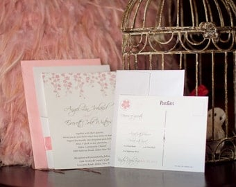 Spring Cherry Blossom Wedding Invitation