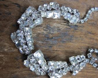 Rhinestone 1960s Necklace. Glitz Glam and all that Glitters