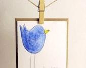 Handmade Happy Birthday Bird Card
