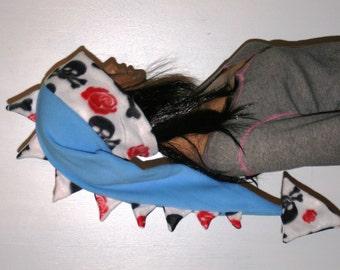 Snowboarding Hat Dragon Dinosaur Tail Hat Skull Crossbones Roses Spiked Fleece Winter Ski Snowboarding Hat