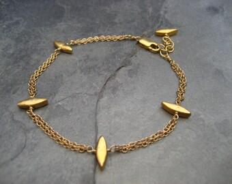 Spike bracelet  - goldfilled and vermeil