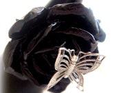 Black rose gothic ring, gothic lolita jewelry, dark romance wedding ring