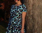 Jaws dress - mod shark print