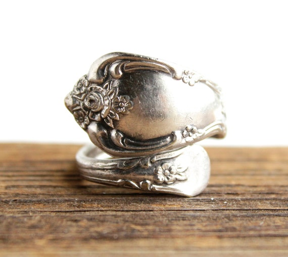 Rogers Oneida Silver Spoon Ring