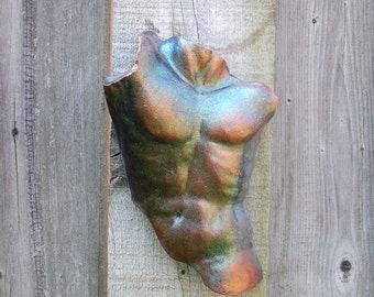 Torso Sculpture Gift for Him, Male Nude Cast Stone Art Antiquity, Michelangelo Sculpture, Italian Decor, Italy Garden Art