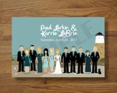 Bridal Party Programs (Full-body) : Custom Illustrated