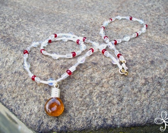 Bee Sweet Honey Necklace 1-S (beaded)