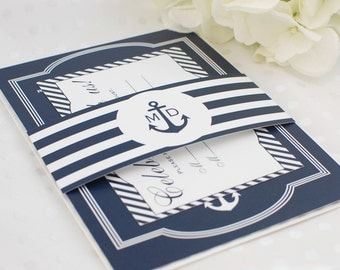 Nautical Wedding Invitation // Deposit
