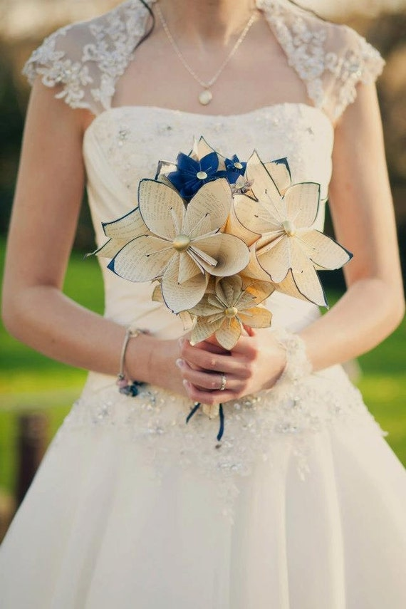 Customized bridal bouquet inch flowers by