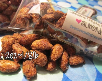 Cinnamon Candied Roasted Almonds - 2oz Sample size