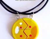 4 stars dragon ball BFF/couples necklace