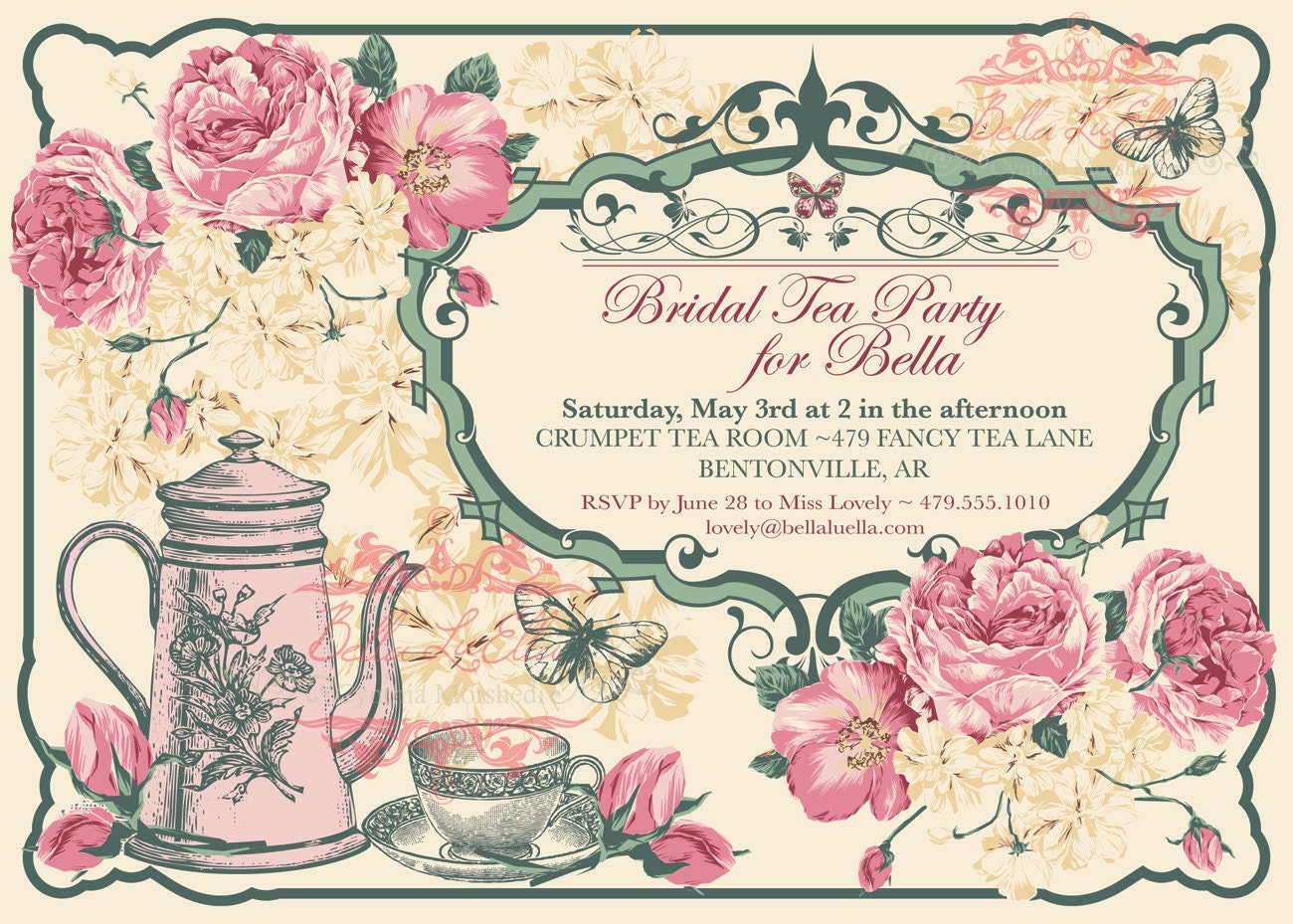 Tea Party Invitation Template - peelland-fm.tk