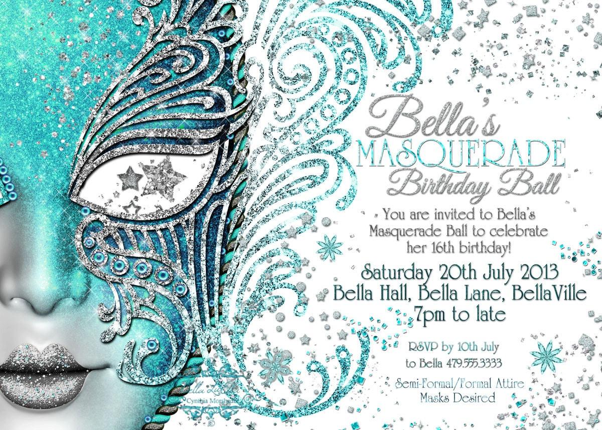 Masquerade invitation mardi gras party party invitations for Masquerade invitations template free
