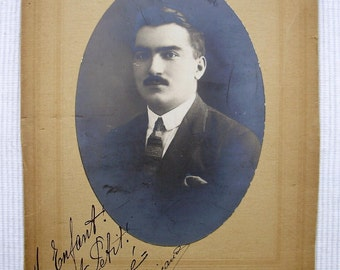 Vintage French Photo - Man with Moustache / Mustache