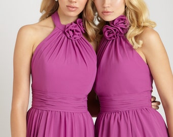 Made in the USA custom made bridesmaids dresses. Pick your color bridesmaids gown for a wedding ceremony