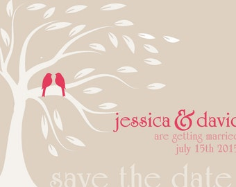 save the date cards, save the date engagement cards, save the date announcement, wedding announcement, engagement announcement, love birds
