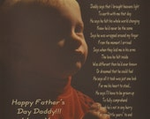"""Gift for Dad From Child Personalized Poem """"Daddy Says"""" 8x10/11x14 Print"""