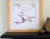 New Baby Print: Customised/Personalised, Beautiful Nursery Art, Heirloom Gift
