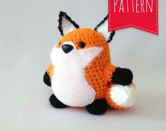 Orange Fox Crocheted Plush - Portly Pal Fox - PDF Pattern - Instant Download