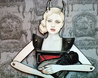 The Black Widow - Jointed Paper Doll