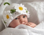 Crochet pattern for Daisy Chain hat in 4 sizes - INSTANT DOWNLOAD .pdf