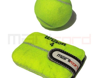 Handmade Recycled Tennis Ball Credit Card/Business Card Sleeve