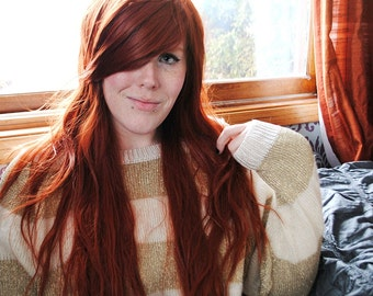SALE Auburn wig | Red wig | Straight Wavy Hair, scene wig, cosplay wig | Sunrise