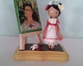 Frida Kahlo Clothespin Doll - MADE TO ORDER