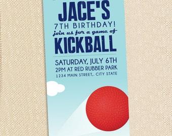 Kickball invitations - set of 12