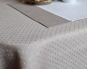 Table Decor 4 Linen Placemats Simple Natural Linen Gray And White / In And Jan Duplex Placemats