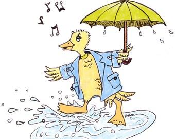 PRINT 5x5 Singing in the Rain