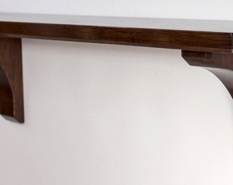 Wall Shelf - 24 Inch Craftsman Style in Quartersawn White Oak
