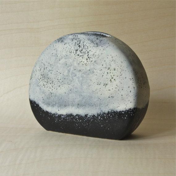 """RARE West German Pottery Vase  """"Polar"""" series by Dümler und Breiden in Black and White"""