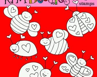 KPM Love Bugs digital stamps
